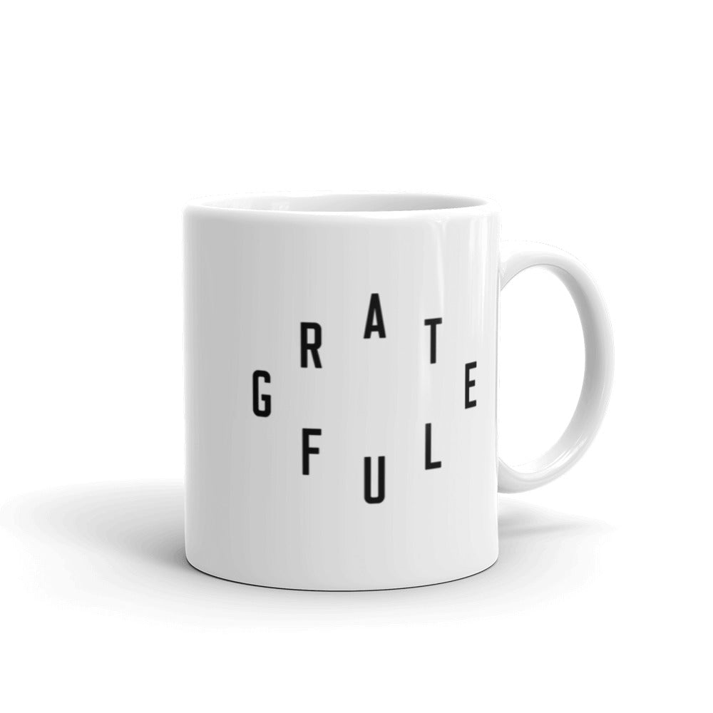 """Grateful"" Christian Catholic Mug 