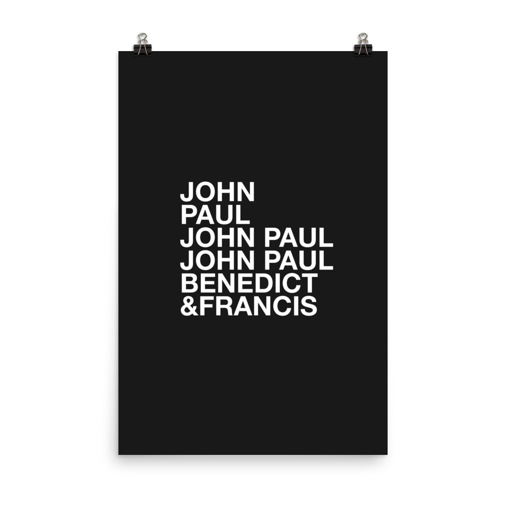 Popes Christian Catholic Poster Print | PAL Campaign
