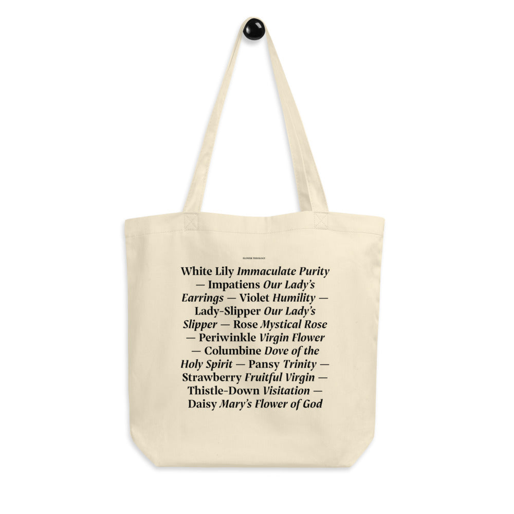 Flower Theology Christian Catholic Eco Tote Bag | PAL Campaign