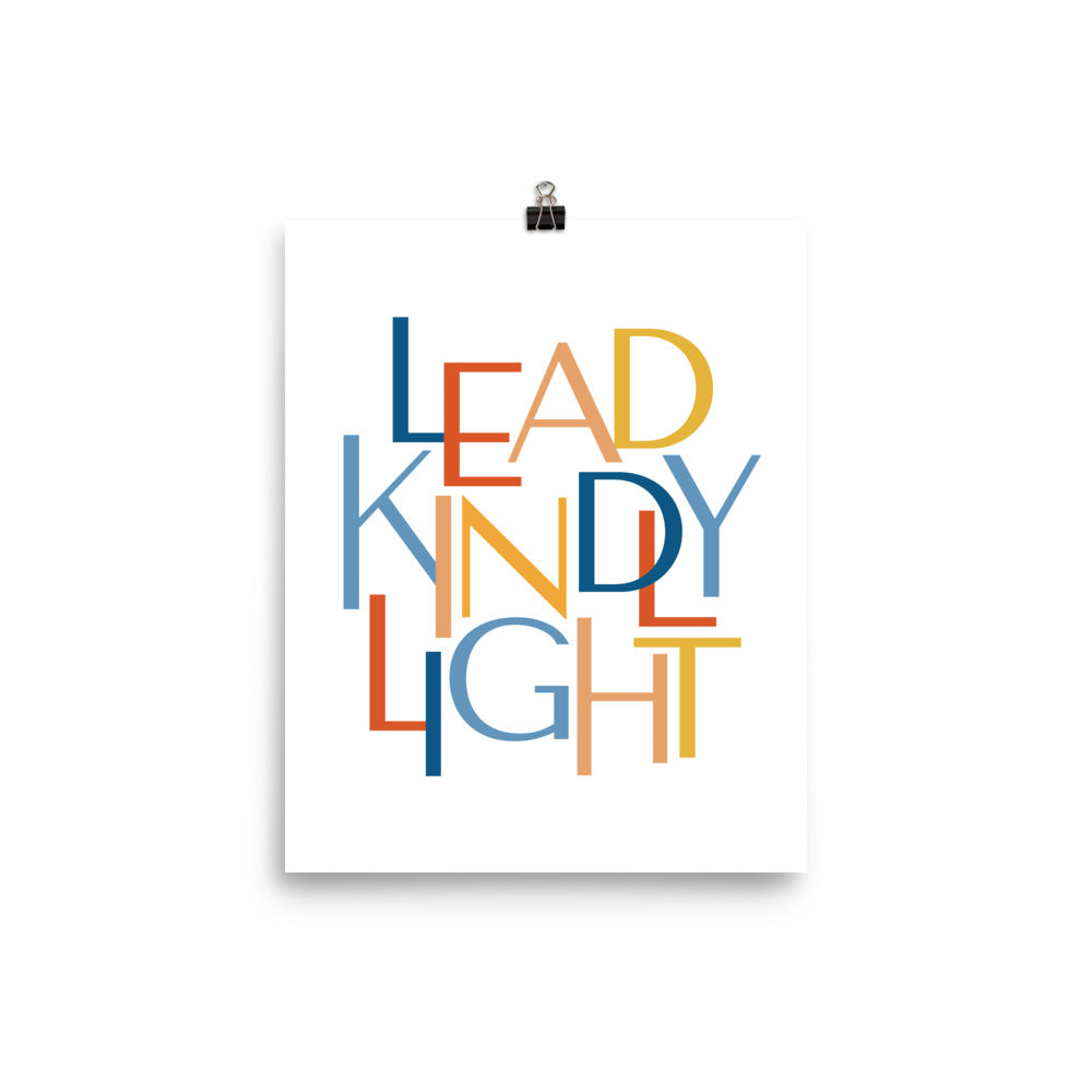 "Lead Kindly Light Christian Catholic Poster Print 8""x10""