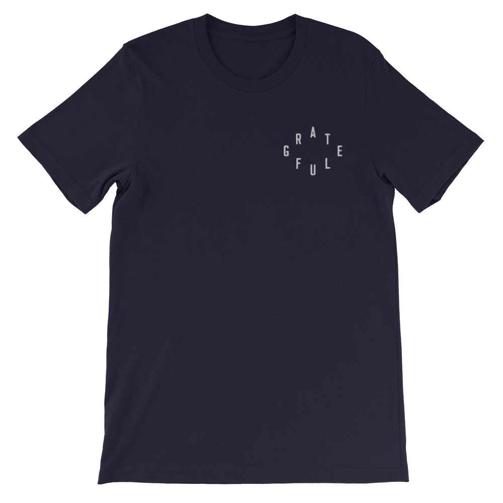 Grateful Christian Catholic T-Shirt in Navy | PAL Campaign