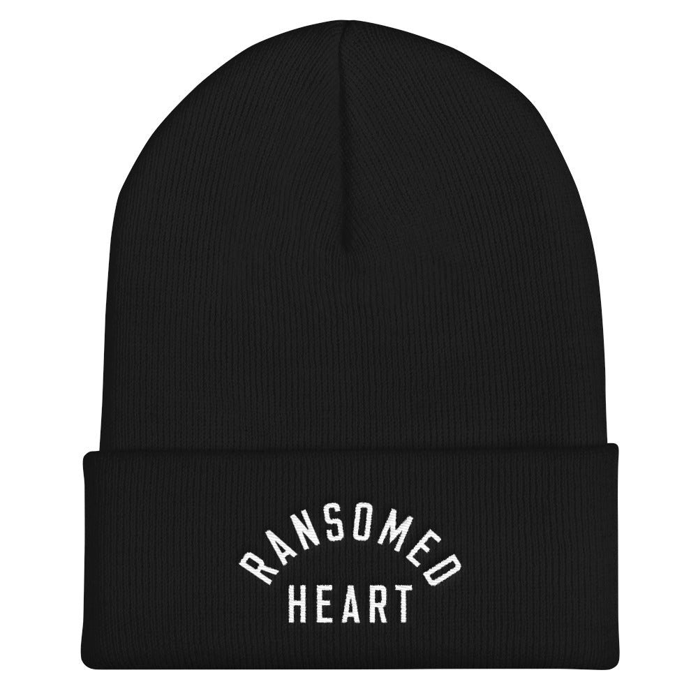 Ransomed Heart Christian Catholic Beanie in Black | PAL Campaign