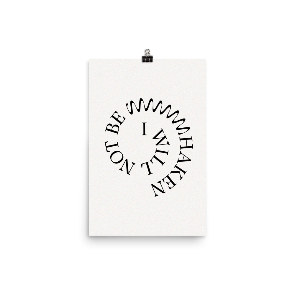 "Not Be Shaken Christian Catholic Poster Print in Off-White 12""x18"" 