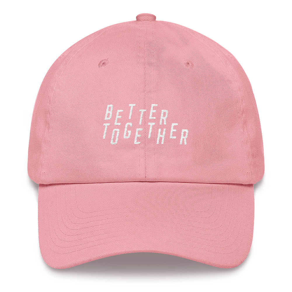 Better Together Christian Catholic Dad Hat in Pink | PAL Campaign