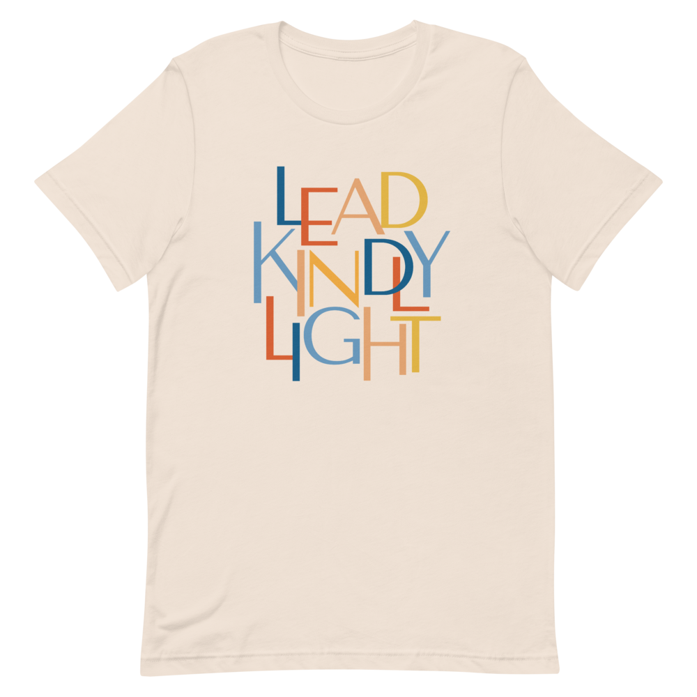 Lead Kindly Light Christian Catholic T-Shirt in Soft Cream | PAL Campaign