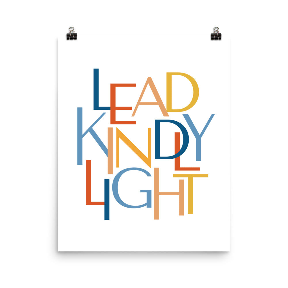 "Lead Kindly Light Christian Catholic Poster Print 16""x20""
