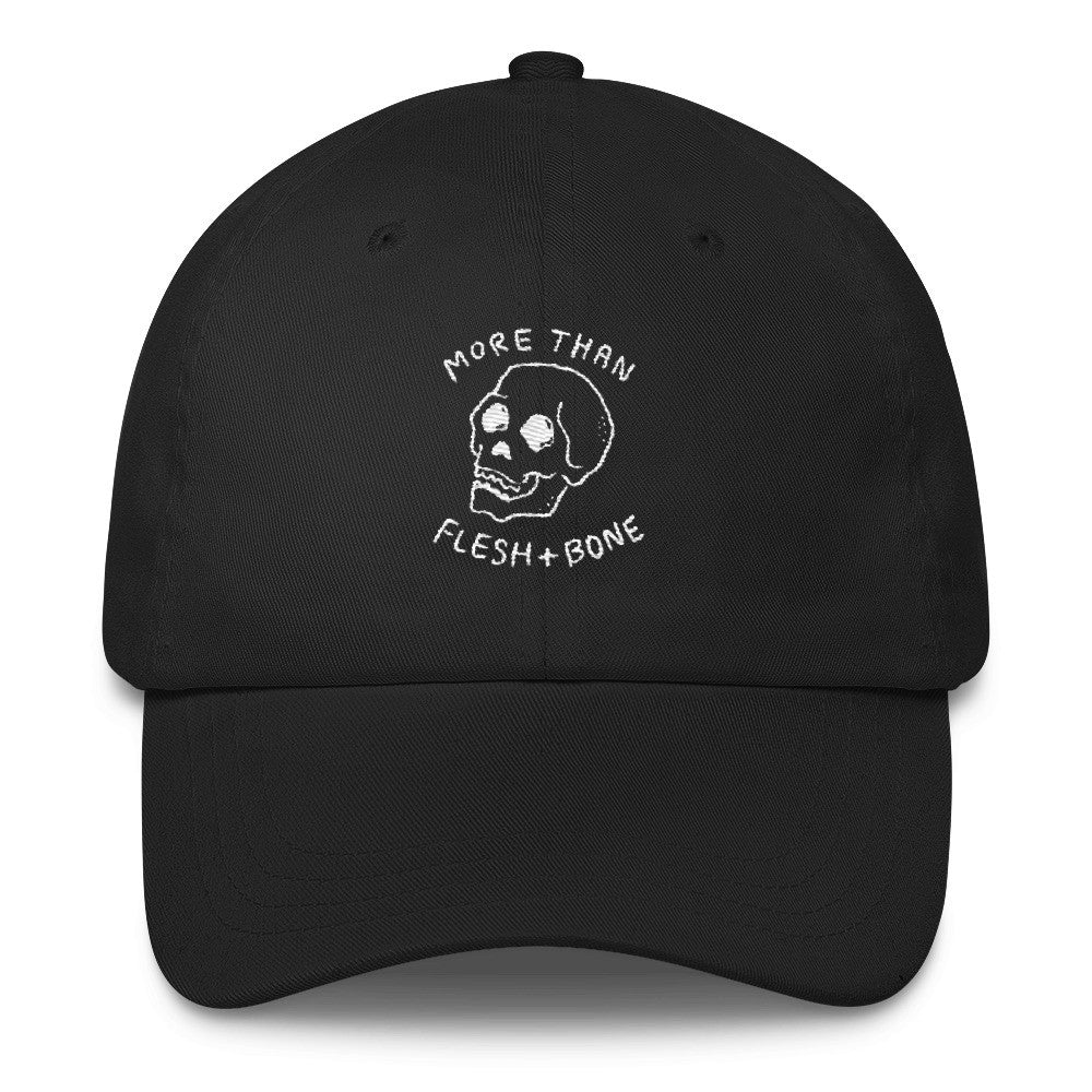 Flesh and Bone (Black) Christian Catholic Dad Cap | PAL Campaign