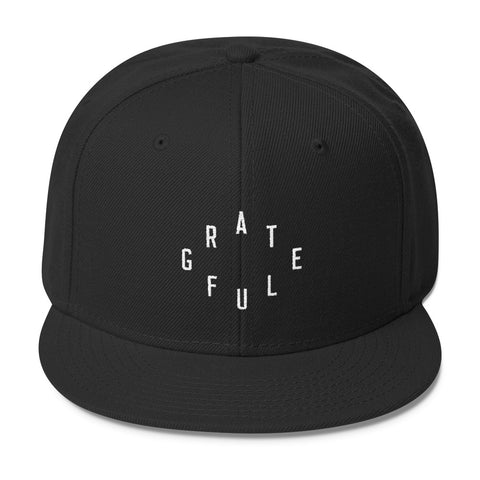 """Grateful"" Christian Catholic Snapback Cap 