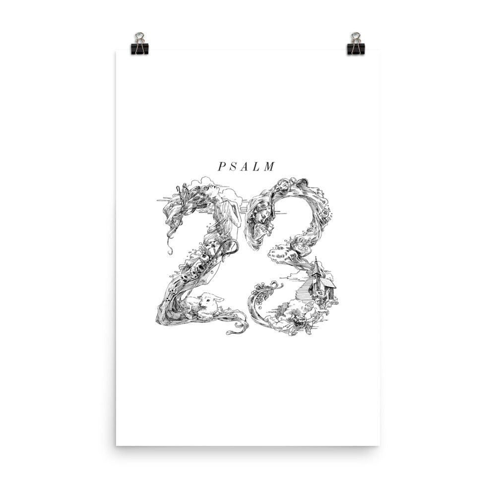 Psalm 23 Christian Catholic Poster Print | PAL Campaign