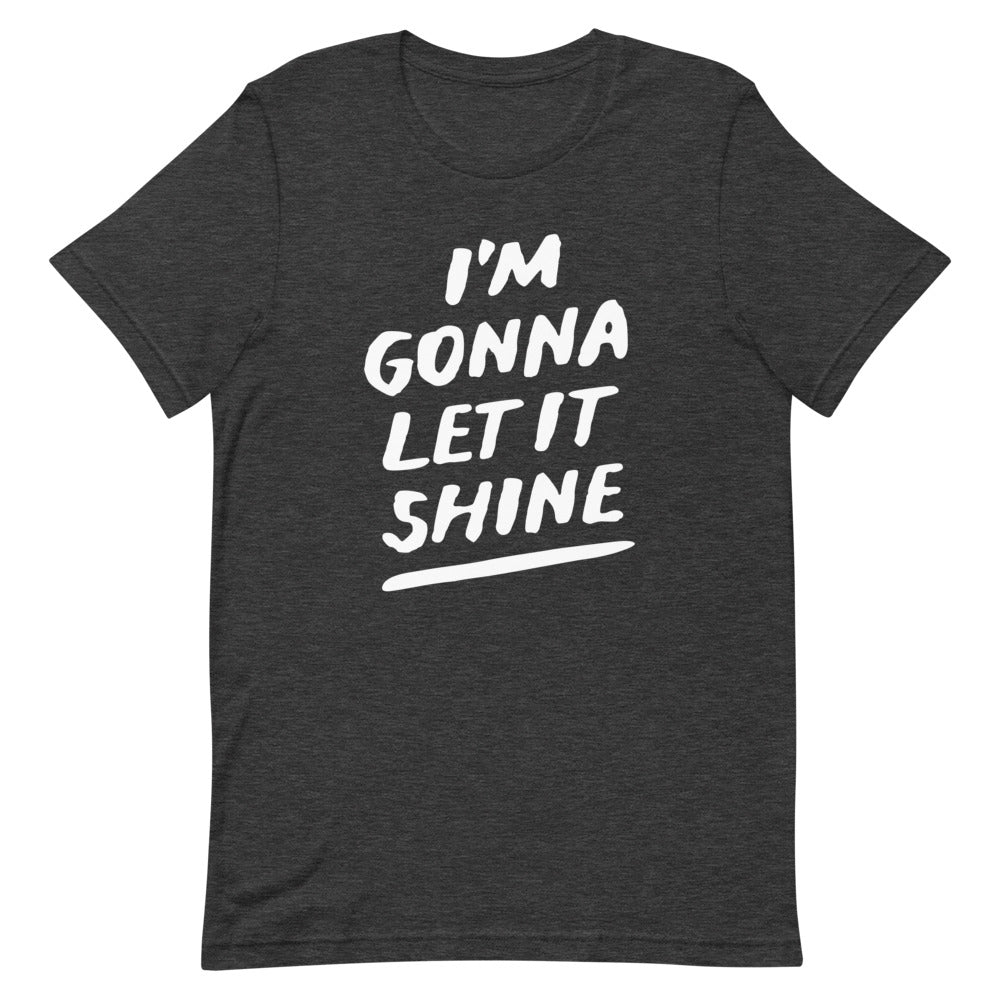 Let it Shine Christian Catholic Unisex T-Shirt in Dark Heather Grey | PAL Campaign