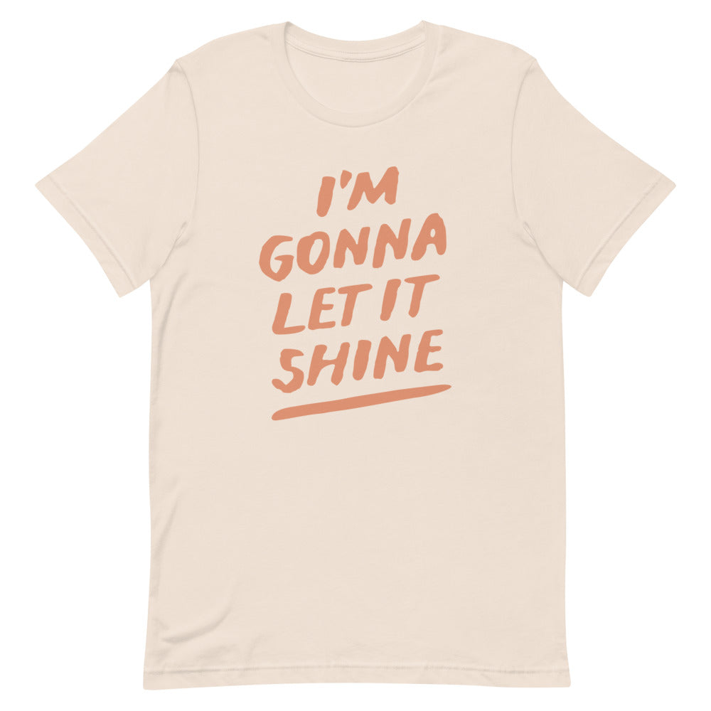 Let it Shine Christian Catholic Unisex T-Shirt in Soft Cream | PAL Campaign
