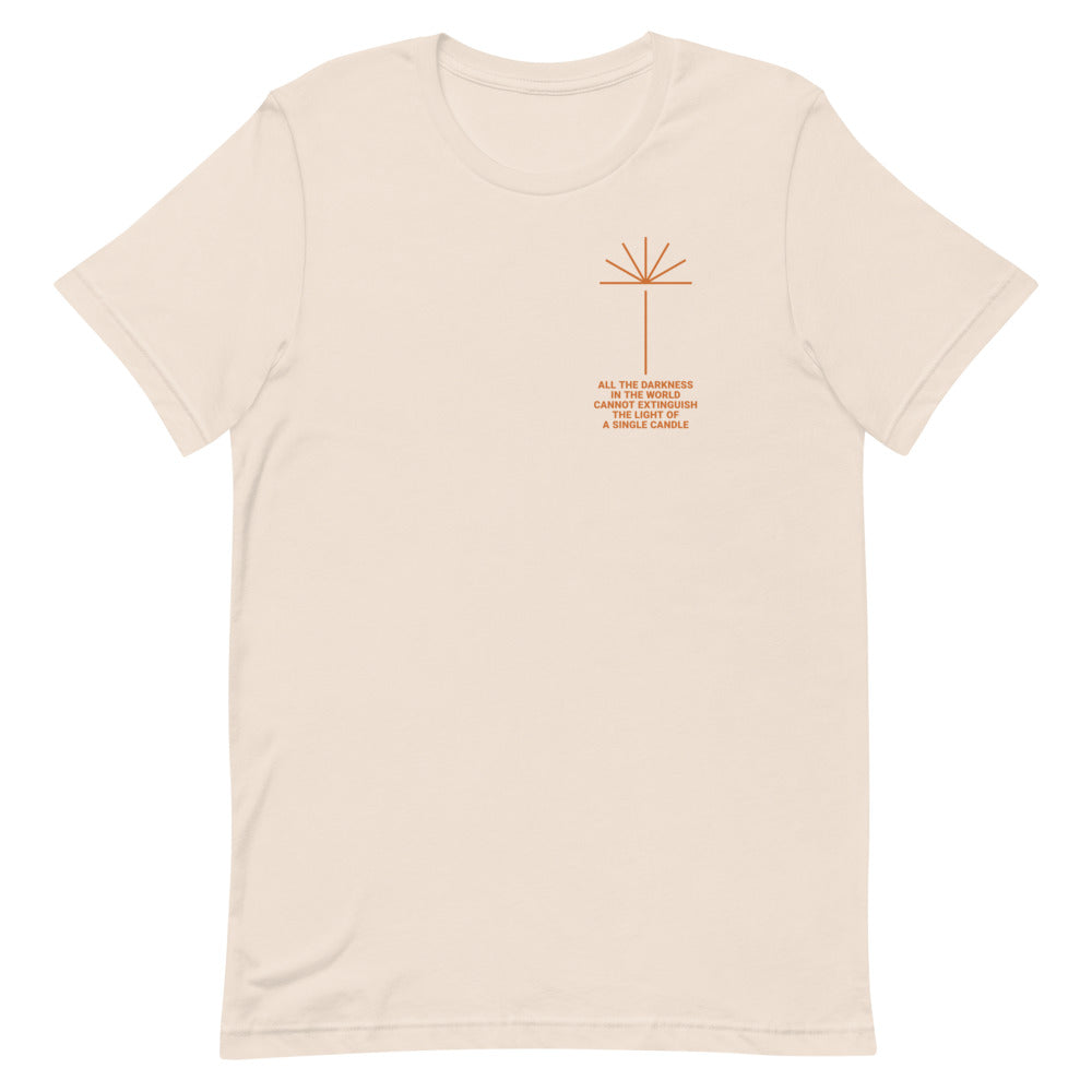 Candlelight Christian Catholic Unisex T-shirt in Soft Cream | PAL Campaign
