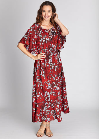 Cordelia St Maxi Dress Red