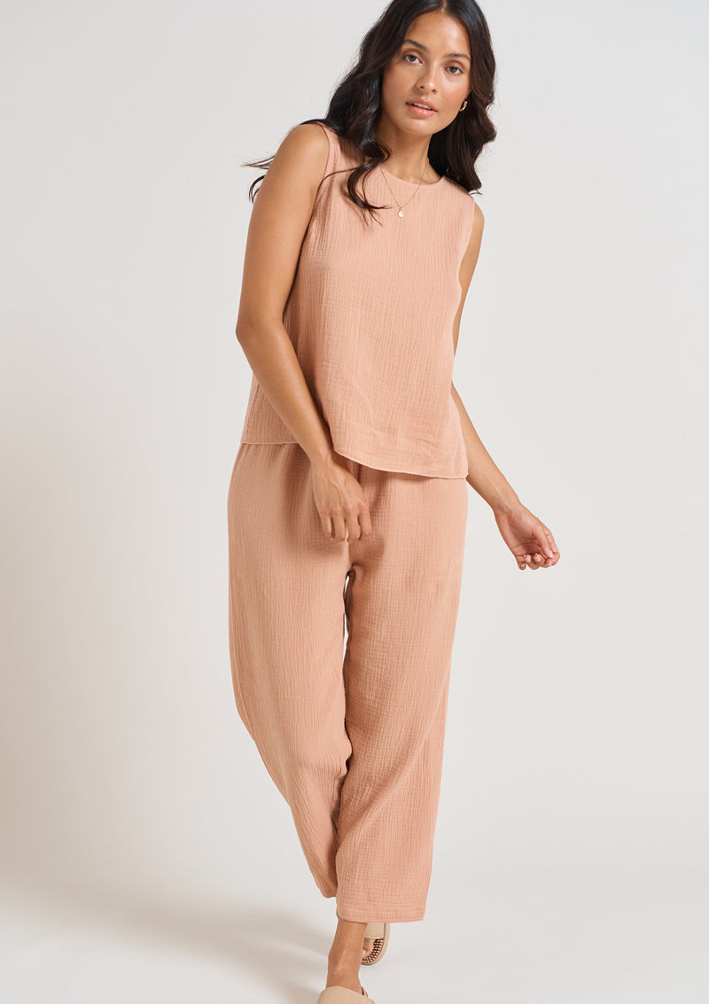 Kendall Cotton Pant - Rose
