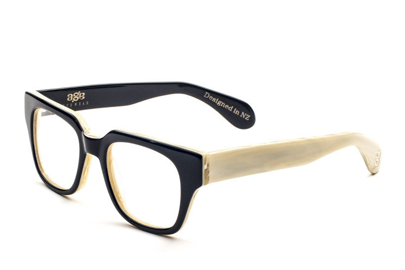 Agent- Black/Bone Limited Edition Optic - AgeEyewear