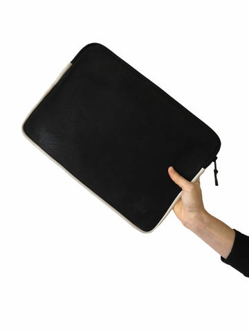 Laptop Sleeve -  Black w White