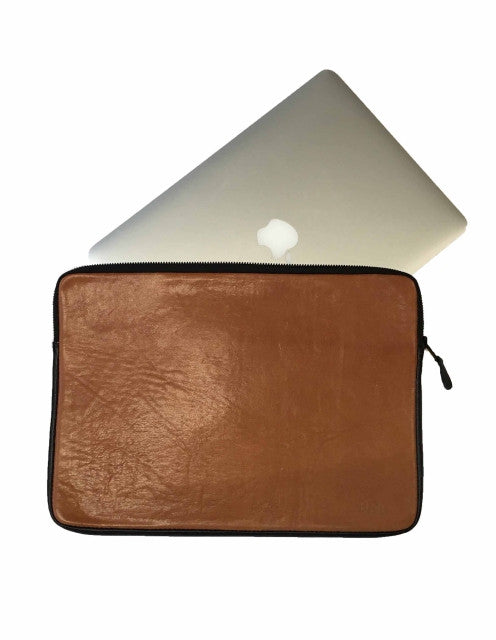 Laptop Sleeve -  Brown w Black