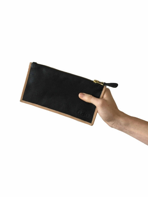 Wallet -  Black w Nude