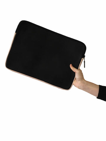 Laptop Sleeve -  Black w Nude
