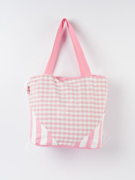 Shopping Bag - Gingham Check Pink
