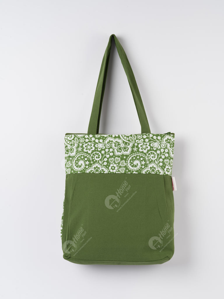 Shopping Bag - Lace Dark Olive
