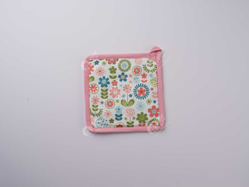 Pot Holder - Retro Flowers