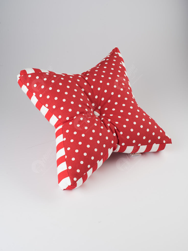 Floor cushion S - Polka Dot Red
