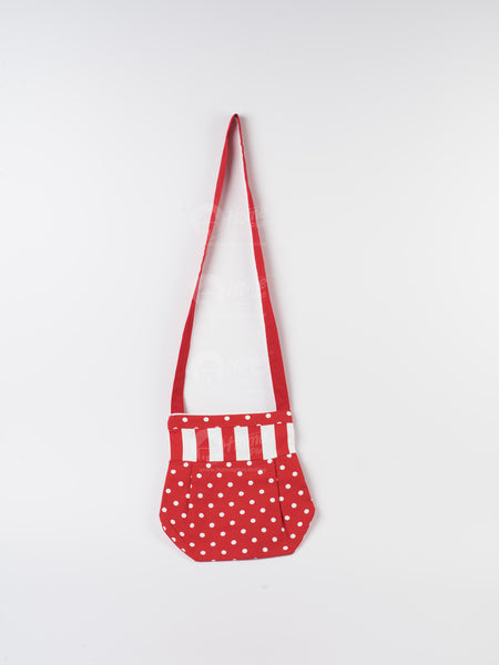 Fancy Bag Long Handle - Polka Dot Red