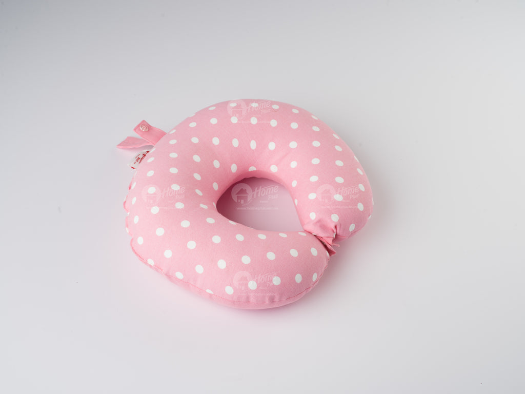 Neck Pillow - Polka Dot Pink