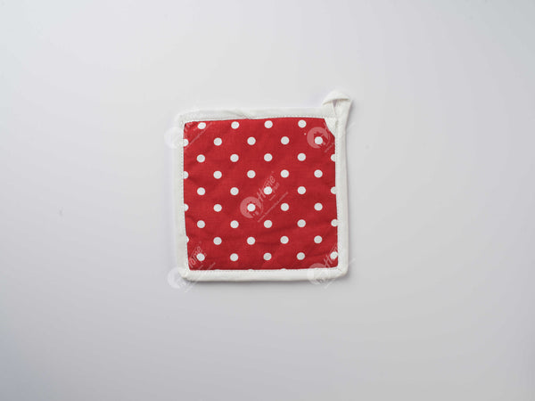 Pot Holder - Polka Dot Red