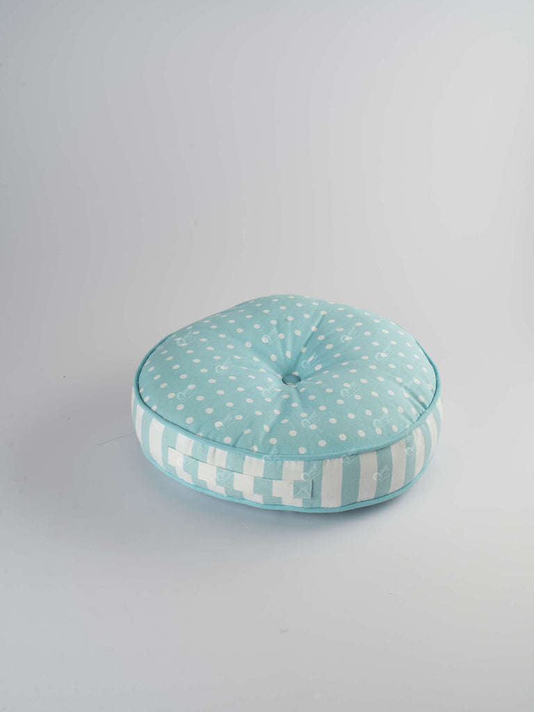 Floor Cushion R - Polka Dot Blue