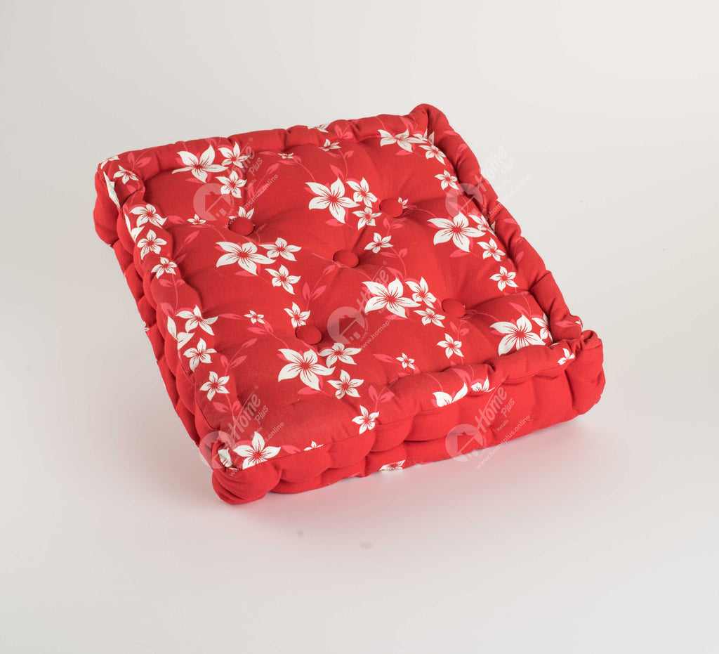 Floor Cushion - Wind Flower Red