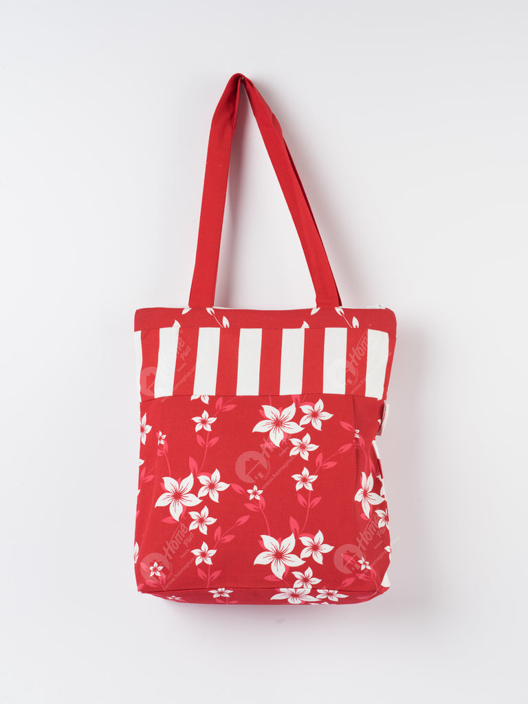 Shopping Bag - Wind Flower Red