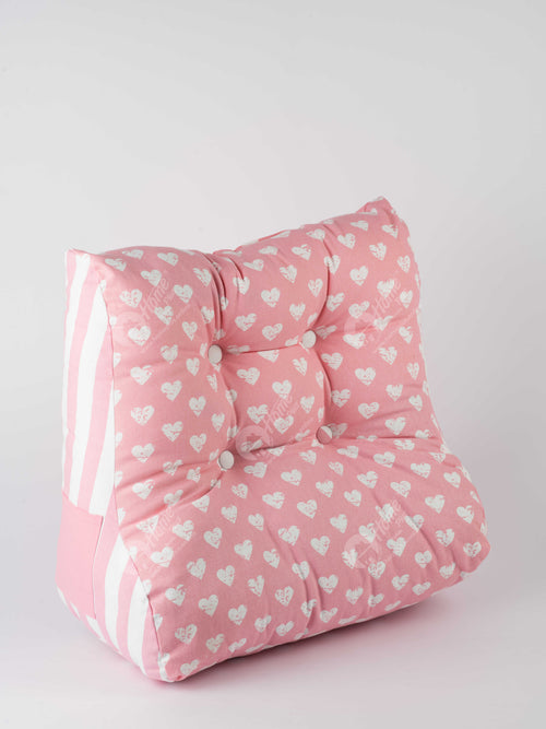 Back Rest Cushion - Heart Pro Pink