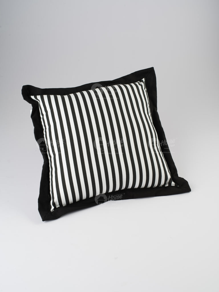 Flange Cushion - Thin Stripe Black