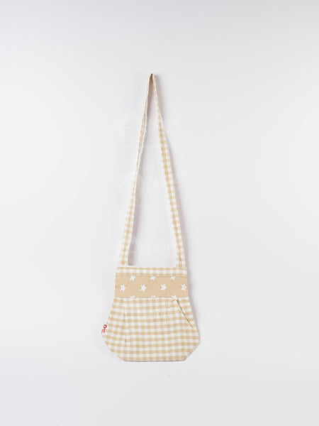 Fancy Bag Long Handle - Gingham Check Beige