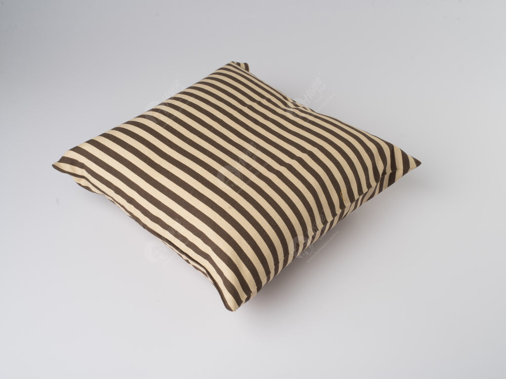 Cushion Cover - Thin Stripe Choco