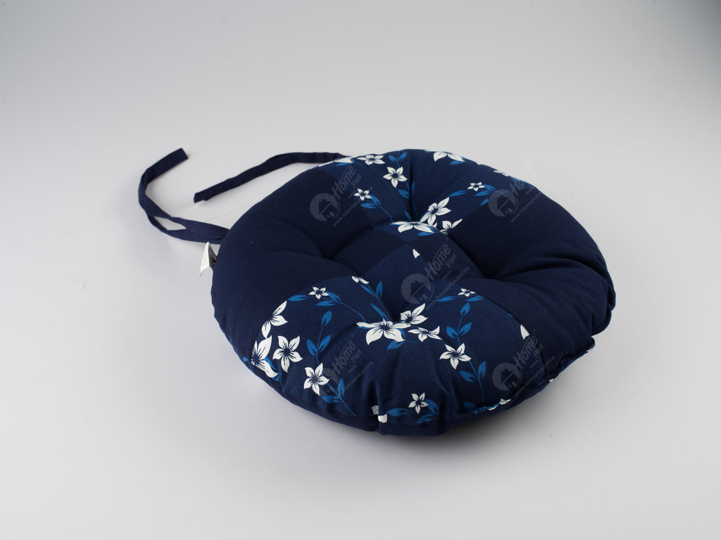 Chair Pad R - Wind Flower Navy