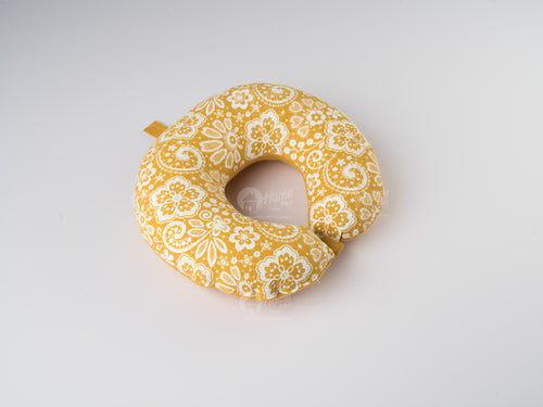 Neck Pillow - Lace Mustard