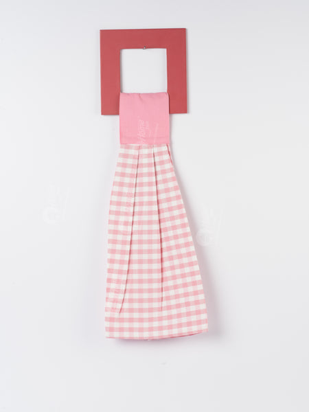 Wash Towel - Gingham Check Pink
