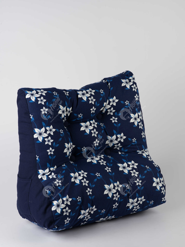 Back Rest Cushion - Wind Flower Navy