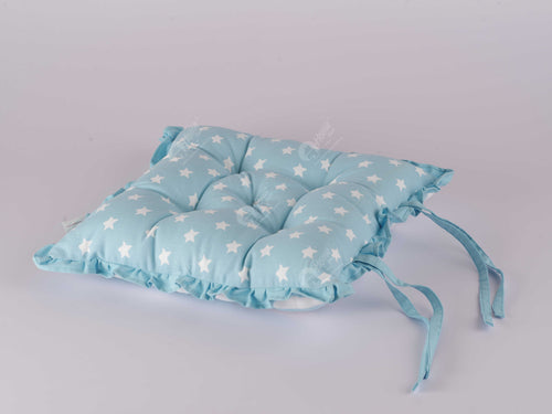 Frill Cushion - Star Blue