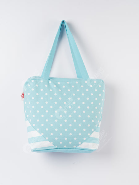 Shopping Bag - Polka Dot Blue
