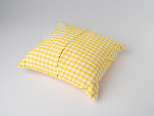 Cushion Cover - Gingham Check Yellow