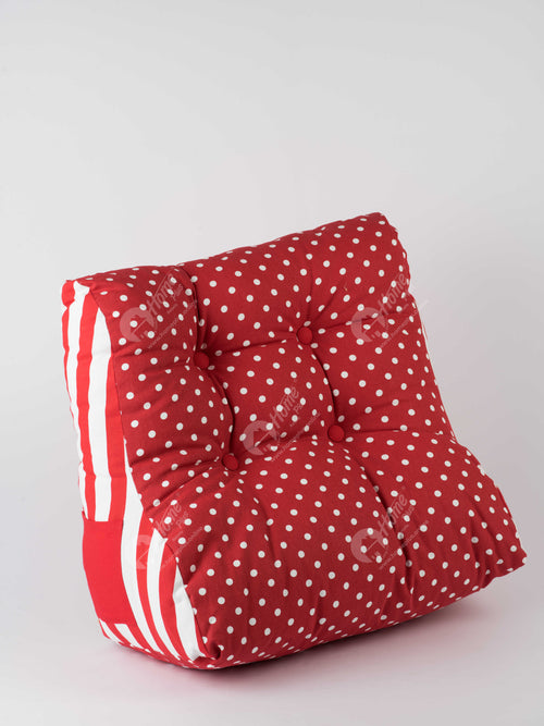 Back Rest Cushion - Polka Dot Red
