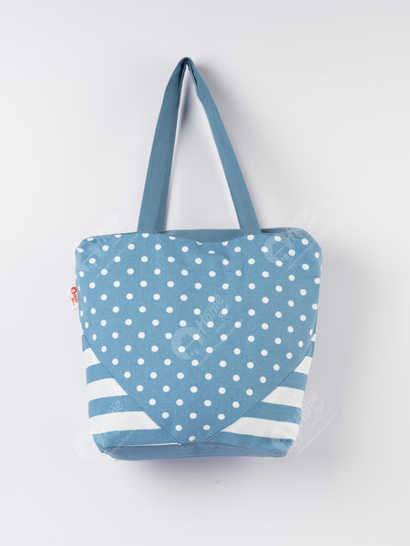 Shopping Bag - Polka Dot AF Blue