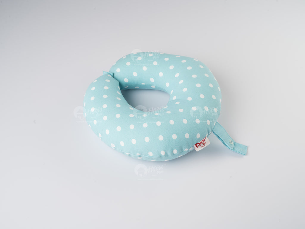 Neck Pillow - Polka Dot Blue
