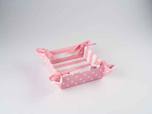 Bread Basket - Polka Dot Pink