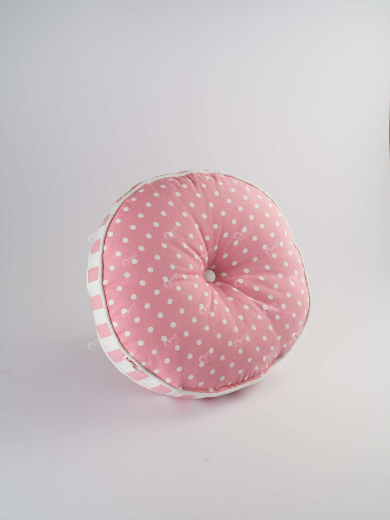 Floor Cushion R - Polka Dot Pink