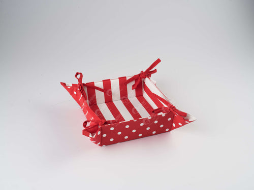 Bread Basket - Polka Dot Red